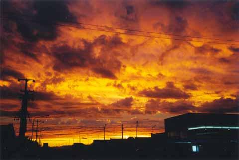 Sonnenuntergang bei Rio Gallegos